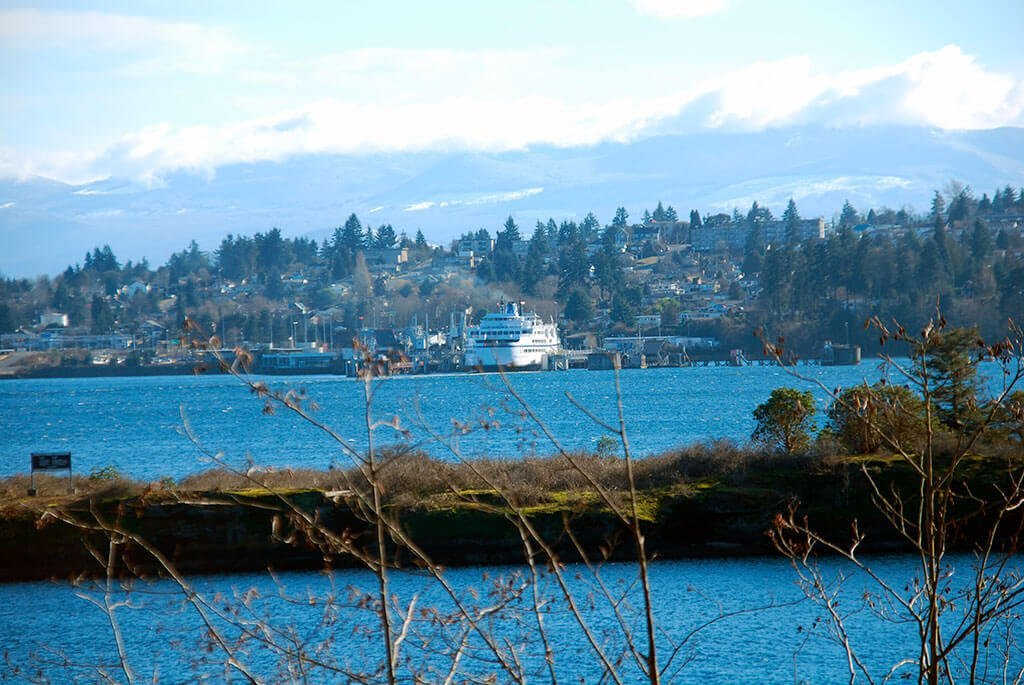 BC Ferries from the Nanaimo family neighbourhoods of Departure Bay