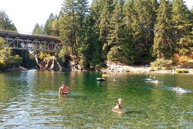 Nanaimo River Swimming