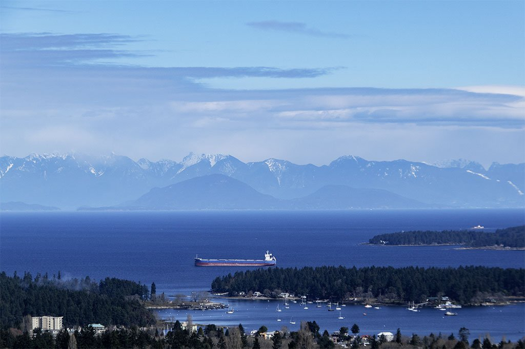 View From College Heights in Nanaimo, B.C.